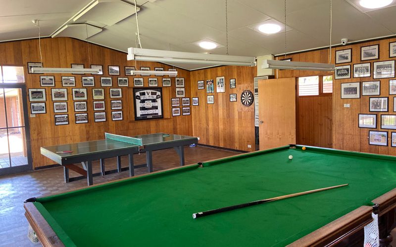 Student Common Room with Pool Table